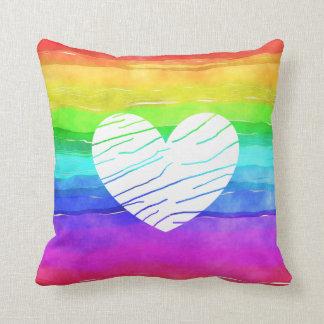 Coussin d'arc-en-ciel de l'arc-en-ciel LGBT