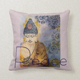 Coussin d'art d'aquarelle de Bouddha de paix