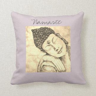 Coussin d'art d'aquarelle de Namaste Bouddha