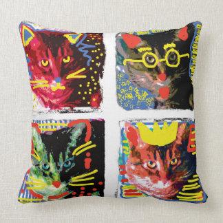 Coussin d'art de bruit de chat tigré