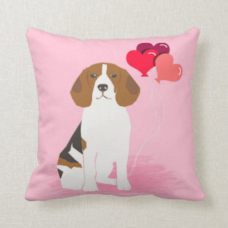 Coussin de ballons d'amour de beagle - chien