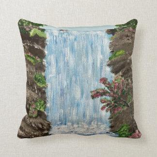 Coussin de cascade (dos de bleu)
