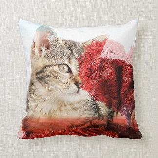 Coussin de chat tigré