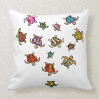 Coussin de coeur de tortues