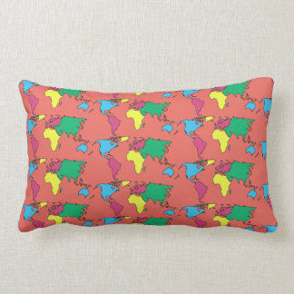 Coussin de corail de carreau de couleurs en pastel