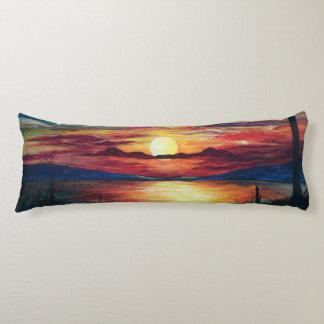 Coussin de corps de coucher du soleil