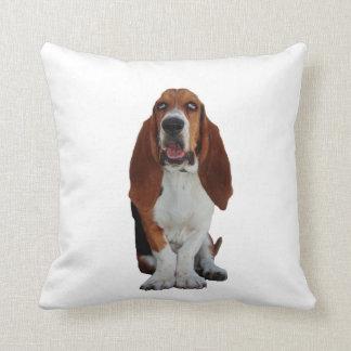Coussin de coussin de photo de chien de Basset