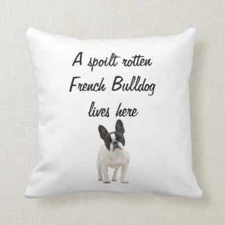 Coussin de coussin de photo de chien de bouledogue