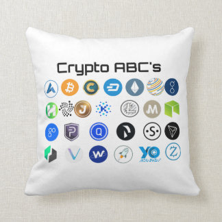 Coussin de Cryptocurrency ABC