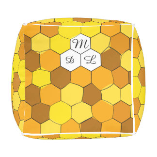 Coussin de cube personnalisé par nid d'abeilles