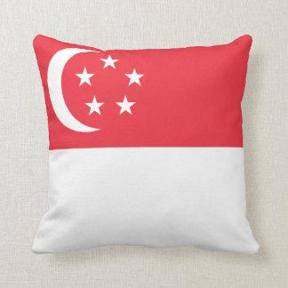 Coussin de drapeau de Singapour