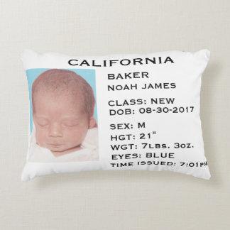 """Coussin de faire-part de bébé """"du permis de"""