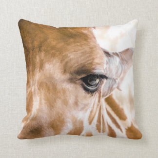 Coussin de girafe bonjour