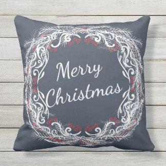 Coussin de guirlande de Joyeux Noël