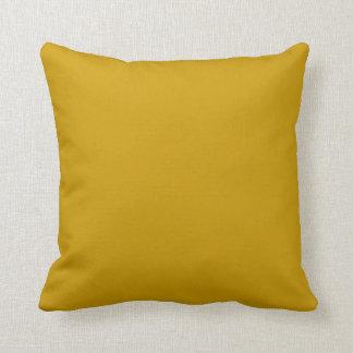 coussin de jaune de moutarde