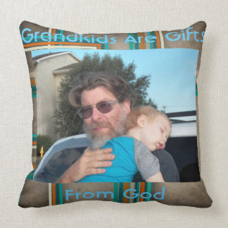 Coussin de la photo du grand-parent