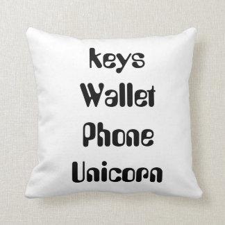coussin de licorne de téléphone de portefeuille de