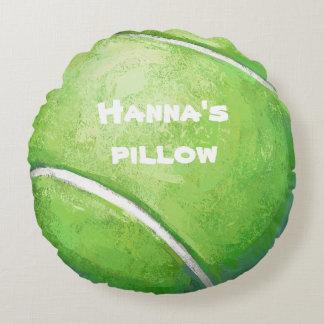 Coussin de lit personnalisé par balle de tennis coussin rond