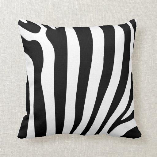 coussin de luxe de coussin de rayures d 39 impression zazzle. Black Bedroom Furniture Sets. Home Design Ideas