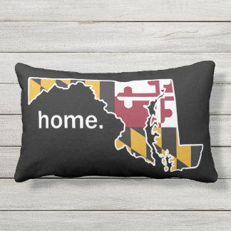 Coussin de maison de drapeau/état du Maryland