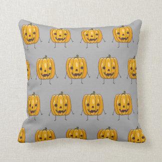 Coussin de motif de citrouille de Halloween
