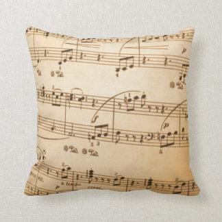 Coussin de notes de musique