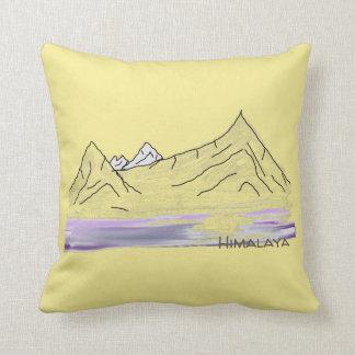 Coussin de paysage de matin de l'Himalaya/de