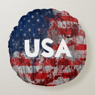 Coussin de peinture de drapeau des Etats-Unis