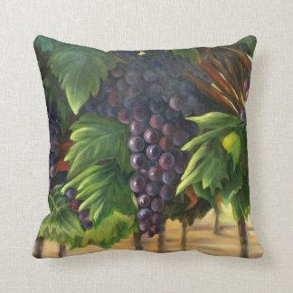 Coussin de raisins avec des illustrations