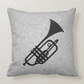 Coussin de silhouette de trompette