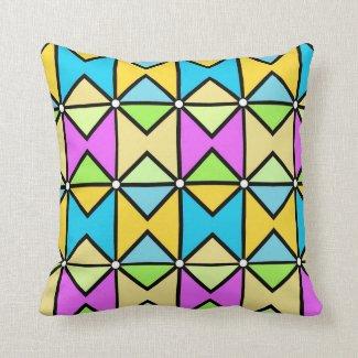 Coussin déco, géométrique coloré