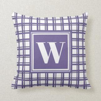 Coussin Décor élégant moderne violet de plaid de tartan de