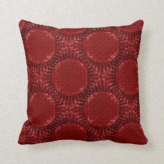 """Coussin décoratif Deep Red, motif """"Soleil rouge"""""""