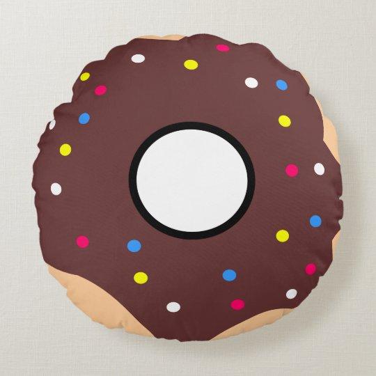 Coussin décoratif rond (40,6 cm) Donut Choco