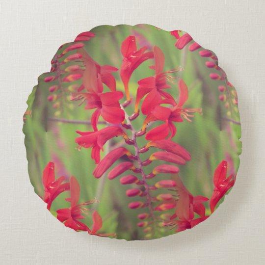 Coussin décoratif rond Fleur