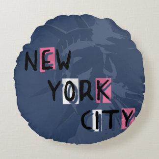 Coussin décoratif rond NYC