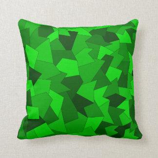 Coussin Dekokissen avec l'échantillon abstrait dans vert