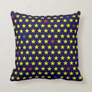 Coussin Dekokissen d'étoiles dans bleus