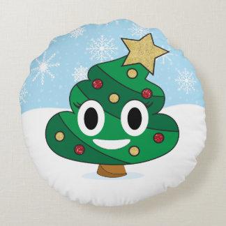 Coussin d'Emoji de dunette d'arbre de Noël
