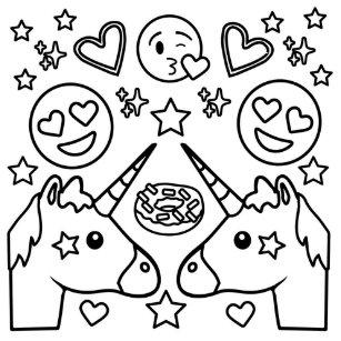 Coloriage De Emoji Licorne Laborde Yves