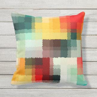 Coussin D'extérieur Art abstrait multicolore