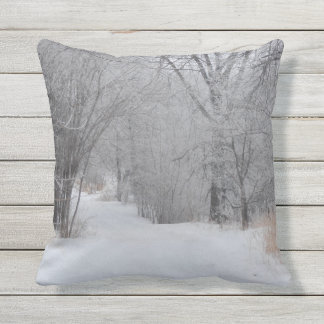 Coussin D'extérieur Solitude d'hiver