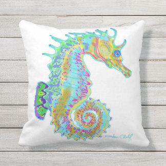Coussin d'hippocampe d'arc-en-ciel