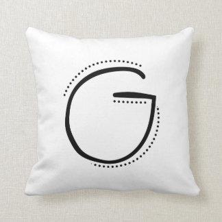 Coussin d'initiale de la lettre G