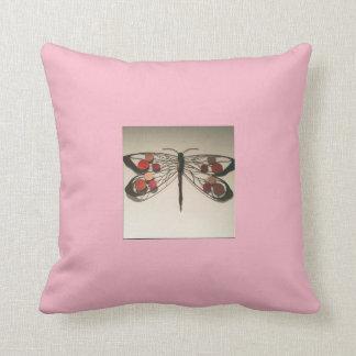 Coussin Divan rose de libellule