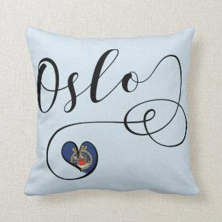Coussin d'Oslo de coeur, Norvège