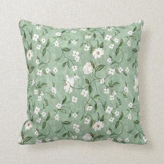 Coussin Douche simple de carreau des fleurs blanches  