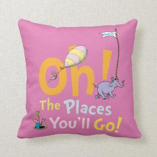 Coussin Dr. Seuss | oh ! Les endroits vous irez !