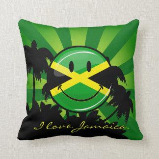 Coussin Drapeau jamaïcain de sourire