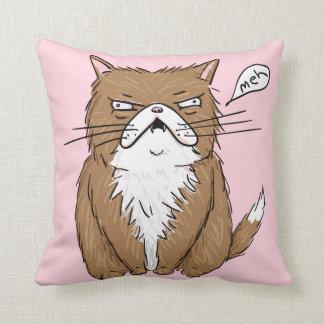 Coussin drôle de dessin de chat de Meh